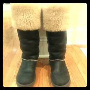 Over the knee UGG boots